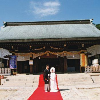 提携の神社での神前式