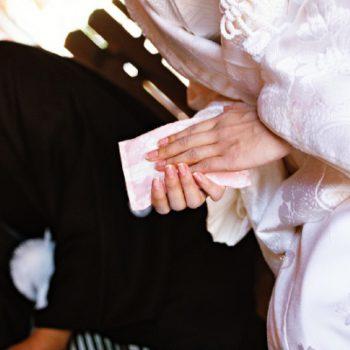 白無垢での挙式は日本の伝統