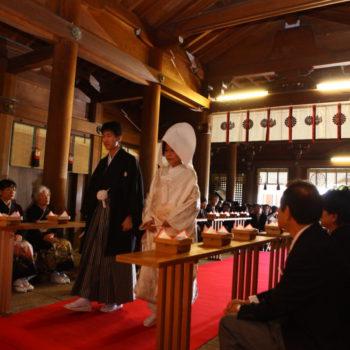 提携神社での神前式