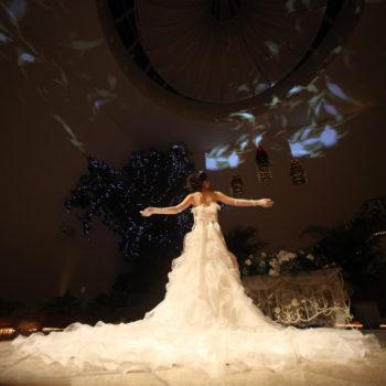 天井から降り注ぐ光の羽